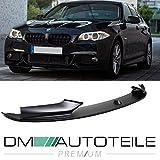 DM Autoteile Frontspoiler Lippe Spoiler vorne Schwarz passt für F10 F11 mit M-Paket +ABE