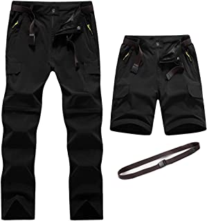 Digralne Men's Outdoor Convertible Hiking Trousers Quick Dry Lightweight Breathable Trousers Water Resistant Camping Trekk...