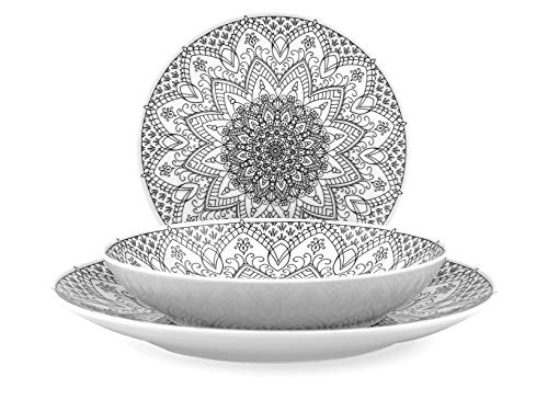 H&H 731440 Servicio de mesa, porcelana
