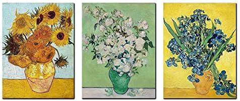 Irises Sunflowers Vincent Van Gogh Paintings Reproduction Floral Giclee Canvas Prints Kitchen product image
