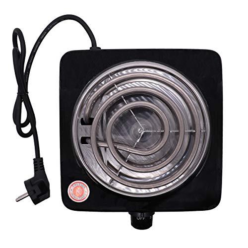 VINP Shisha Elektrischer Kohleanzünder 1000W Kohlebrenner Kochplatte für Wasserpfeife Barbecue Kohle (Schwarz)