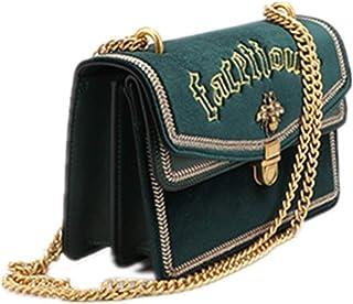Damen Messenger Bag Damen Samt Umhängetasche Damen Kette Umhängetasche Brief Geldbörse for die Arbeitsschule Reisegeschen...