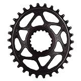Absolute Black - Soporte para bicicleta de montaña, ovalado, color negro