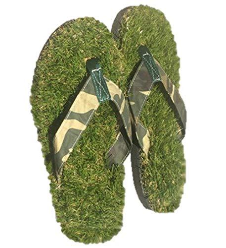 GFF Grass Flip Flops, Medium (9.5-10.5), Camo Green
