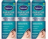 Ear Drops for Swimmers Ear, Hyland's Earache Drops for clogged ears, (3-Pack)