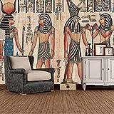 Msrahves Paredes Decoración Hogar Pintura del faraón del antiguo egipto Fotomural Vinilo para Pared Infantil Fotomural para Paredes Mural Decorativo Decoración comedores Salones Habitaciones