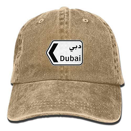WYICPLO Men Women Classic Denim Dubai Adjustable Baseball Cap Dad Hat Low Profile Perfect For Outdoor