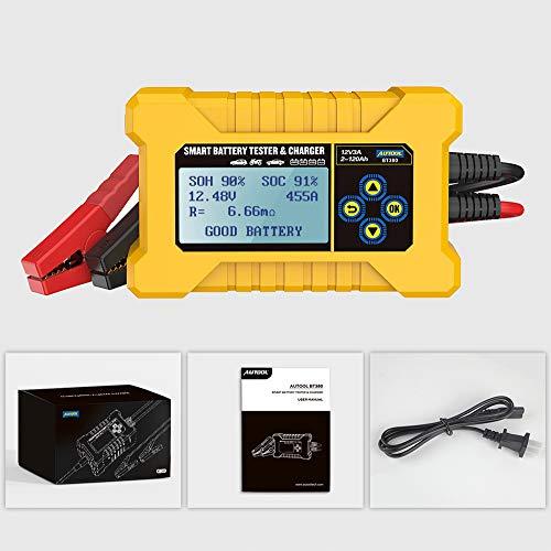 AUTOOL BT380 Car Smart Batterietester & Autobatterieladegerät, Kfz-Batterietesteranalysator, Car Power Bank CCA2400 Für 12-V-Fahrzeuge