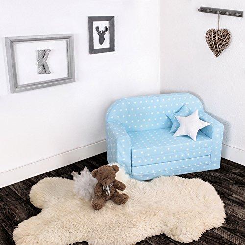 Lulando Classic Canapé/fauteuil pour enfant - Fonction lit - Pour dormir et jouer - Motif petites...