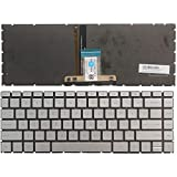 New US Laptop Keyboard for HP Pavilion 14-CE 14-ce0064st 14-ce0068st 14-ce0008ca with Backlit Silver Keyboard