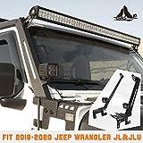 A-Pillar LED Lights Bar Mounting Brackets for 2018-2020 Jeep Wrangler JL/JLU with 2 LED Lights, Jeep Wrangler Light Bar Bracket Accessories