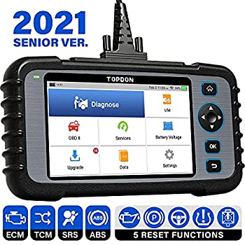 OBD2 Scanner TOPDON ArtiDiag600 Diagnostic Tool for Engine/SRS/ABS/Transmission Oil/EPB/SAS/TPMS Reset Throttle Matching Scan Tool AutoVIN Free Wi-Fi Update Android 7.0 2021 CAN Code Reader