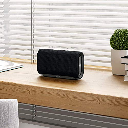 AUKEY Mini Bluetooth Speaker with Enhanced Bass and Metal Housing, Portable Wireless Speaker includes FM Radio, Micro-SD Slot and 3.5mm Audio Input