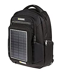 Solar backpack SunnyBAG Explorer Black with integrated solar charger, black