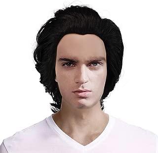 Kylo Ren Cosplay Wig Long Inky Hair Star Wars Halloween Costume Wig