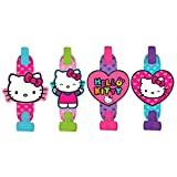 Amscan 331417 Blowouts | Hello Kitty Rainbow Collection | 8 pcs | Party Accessory