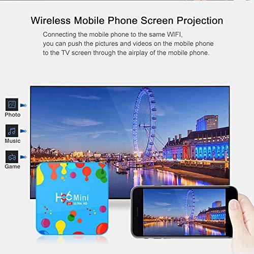 4GB 128GB H96 Mini Android 9.0 TV Box Allwinner H6 Quad Core 6K H.265 WiFi BT4.0 HD Google Player YouTube Set top Box Media Player + with Wireless Mini Backlight Keyboard