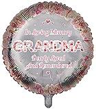 Globos conmemorativos para la abuela, ideales para decoración funeraria, 1 unidad.