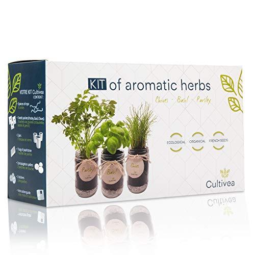 Cultivea Set completo - Fai crescere le tue di erbe aromatiche - 100% semi ecologici e biologici -...