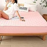 BOLO Funda de colchón acolchada impermeable con sábana elástica grande tamaño king (sin funda de almohada), sin protector de colchón crujiente, 180 x 200 + 25 cm