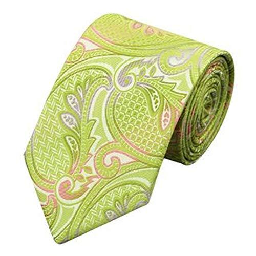 Jason & Vogue Designer en gris avec cravate en motif cachemire vert clair