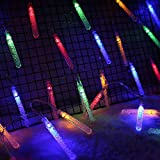 JUDTDOLIFT19.69ft Christmas String Light 40-LED Icicle String Light Fairy String Light