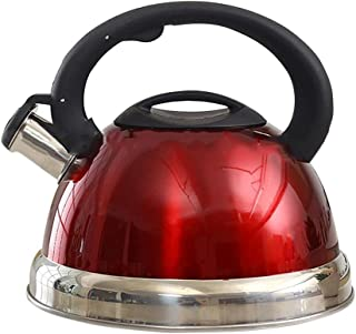 Kettle Tea pot with whistle capacity 3 liter Stainless Steel Red