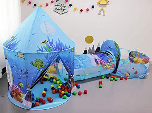 Benebomo Tienda Pop-up para niños 3en1,Carpa y túnel para Carpa Infantil,casita para niños túnel Teatro,Carpa de jardín Grande para niños y niñas,Interior y Exterior,con Bolsa de Transporte(Oc