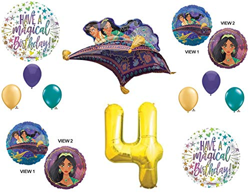 Find Bargain Aladdin 4th Birthday Party Balloons Decorations Supplies Jasmine Gold