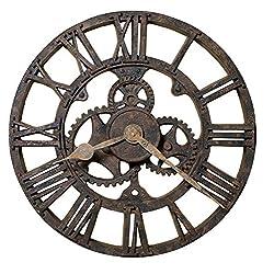 Howard Miller Minden City Wall-Clocks, Antique Rusted