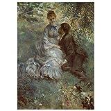 JUNIWORDS Poster, Pierre Auguste Renoir, Das Liebespaar, 20