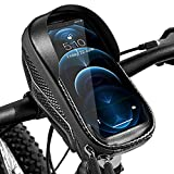 Fahrrad Handyhalterung Wasserdicht Handy Fahrradhalterung Fahrradtasche Lenker, Halterung Fahrradlenker Handyhalter Lenkertasche Rahmentasche Touch Aktiviert rüttelsicher für 5 - 7 Zoll Smartphone