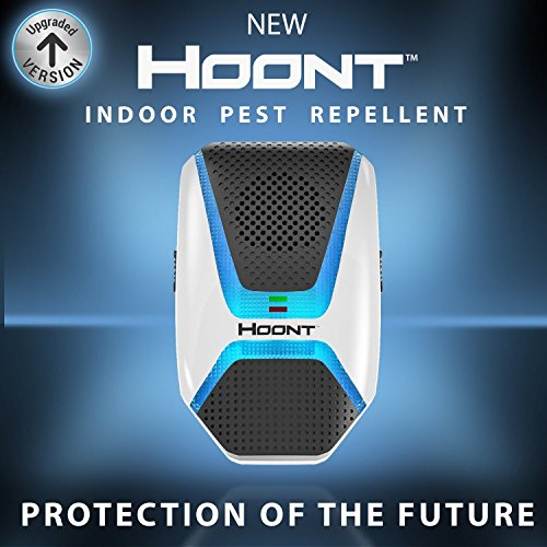 Hoont Indoor Electronic Pest Repeller with Advanced Repelling Technology + Night Light - Get Rid of All Rodents and Insects [UPGRADED VERSION]