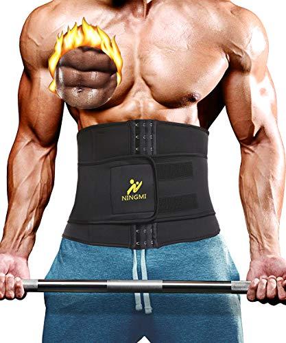 NINGMI Waist Trimmer Belly Weight Loss Fat Sauna Sweat Wrap and Workout Waist Trainer