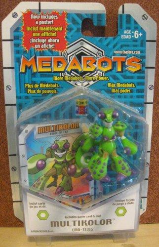 MEDABOTS - MULTIKOLOR FIGURE (CMO-31315) Includes poster, game card & die! (2001)