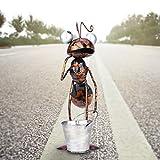 YANFANG DecoracióN De JardíN Hormigas Adornos Hierro Forjado Movibles,Hormiga Metal Lindos Coloridos para Colgar Arte La Pared CéSped Esculturas Interior Al Aire Libre