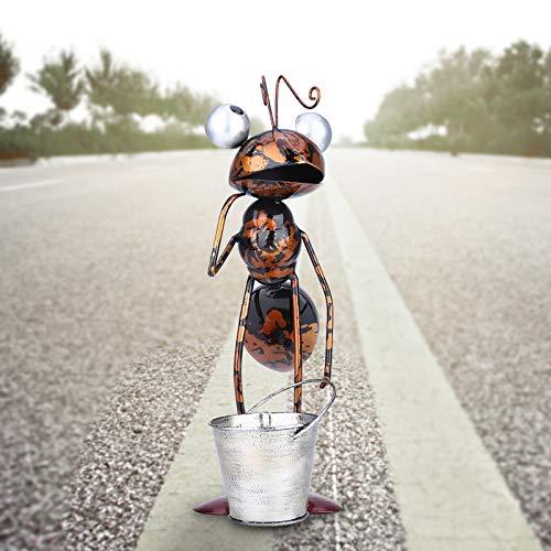 YANFANG DecoraciN De JardN Hormigas Adornos Hierro Forjado Movibles,Hormiga Metal Lindos Coloridos para Colgar Arte La Pared CSped Esculturas Interior Al Aire Libre
