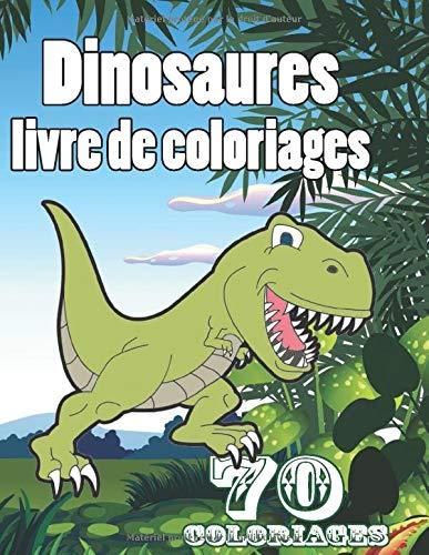 livre de coloriage dinosaure: pour enfants à partir de 5 ans 70 coloriages 140 pages , 21.59 x 27.94 cm , papier crème