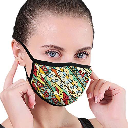Maske Zusammenfassung Handgezeichnetes Muster Gesicht Mund Maske Anti Staub Wind