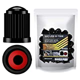 Performore 30 pcs Tire Valve Caps Heavy-Duty Stem Covers with O-Rubber Rings, Universal Car Wheel Tire Valve Stem Caps Dust Cover for Cars, SUVs, Bikes, Bicycles, and Motorcycles (Black)