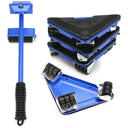 OUUCL Heavy Duty Möbel Lifter - Mover Tool Set 5 Pack - Einfache und sichere Mobilität - Max for 250kgs / 500 lbs - 360 Grad drehbar Pads