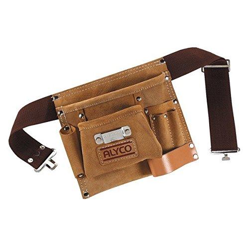 Alyco 196894 – Bolsa de cuero multibolsillos con cinturon