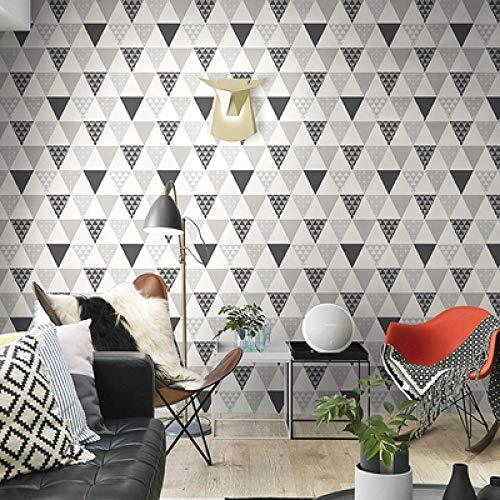 Behang Wallpape Nordic Stijl Modern Geometrisch Behang 3D Driehoek Ruit Vliesbehang Roll Woonkamer Slaapkamer Home Decor Behang-Bs1037 02_5.3㎡