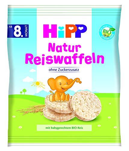 HiPP Bio Knabberprodukte Natur Reiswaffeln, 7er Pack (7 x 35 g)