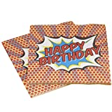 Ginger Ray Pop Art Superhero Party-Boxen (5Stück), gemischt Papierserviette gemischt