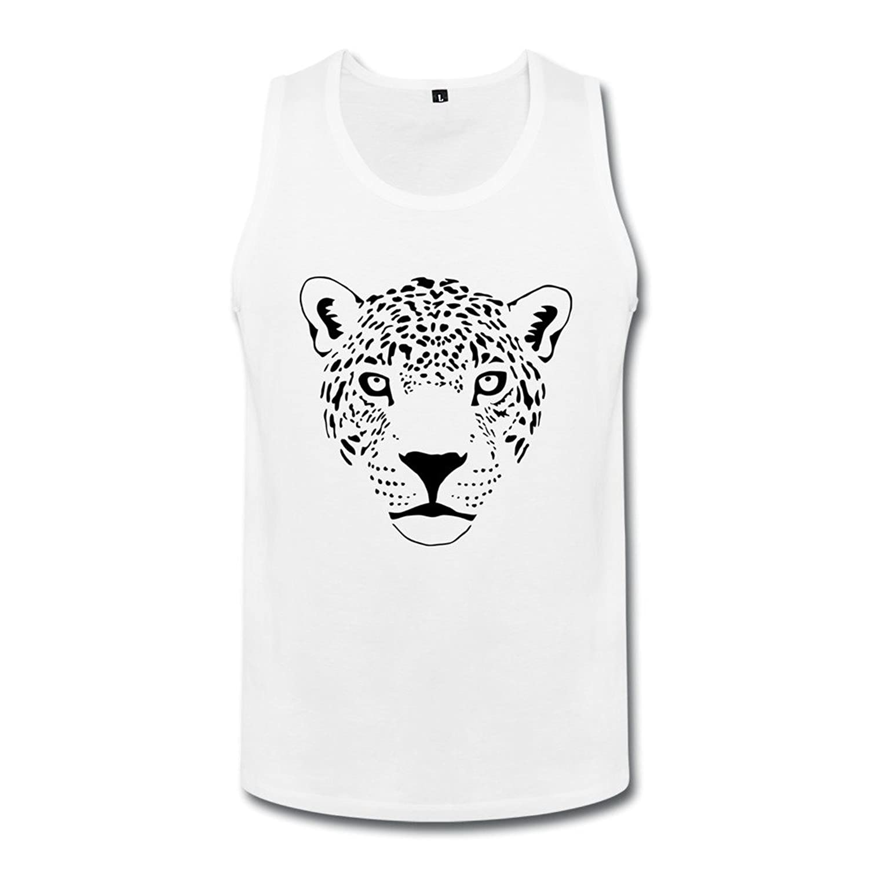 成人 クール ジャガー猫ピューマヒョウヒョウチーター ベスト 100%棉 White
