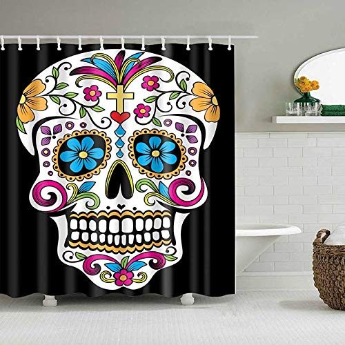 XCBN Cartoon doccia scheletro Design tenda da bagno tenda da doccia impermeabile bagno A4 180x180cm