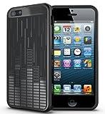 TUDIA Ultra Slim Clef Series TPU Funda protectora para iPhone 5C (negro)