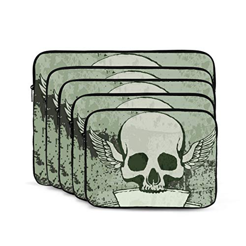 KUUDJIT Halloween, Ghost, Devil 12/13/15/17 Inch Laptop Sleeve Bag for MacBook Air 13 15 MacBook Pro Portable Zipper Laptop Bag Tablet Bag,Diving Fabric,Waterproof