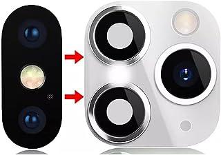 غطاء لحماية عدسة الكاميرا الخلفية، مادة لاصقة صلبة ملونة، وتحويل شكل كاميرا iPhone Xs/iPhone Xs Max، إلى iPhone 11 Pro/iPh...